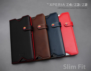 [Xperia Z4/Z3/Z2] LIMS Premium Leather SlimFit Edition