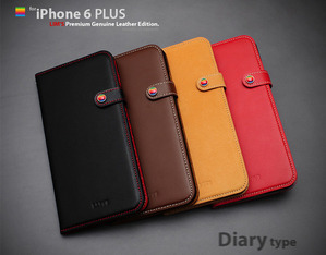 [iPhone6 PLUS] Premium Genuine Leather Diary Edition